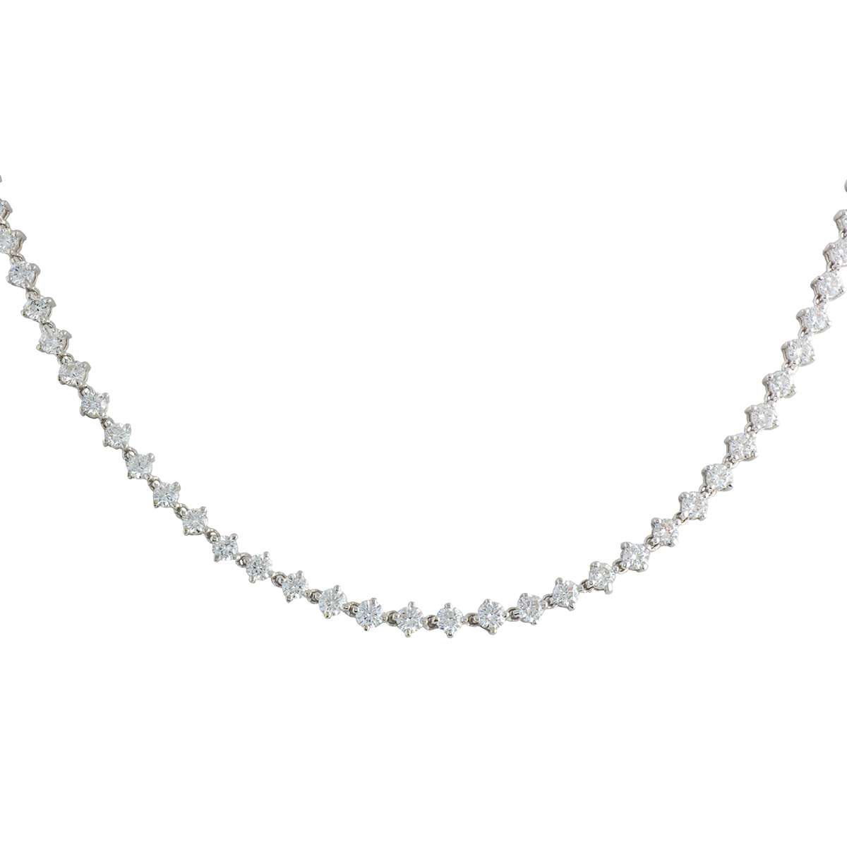 18k White Gold Full Diamond Necklace